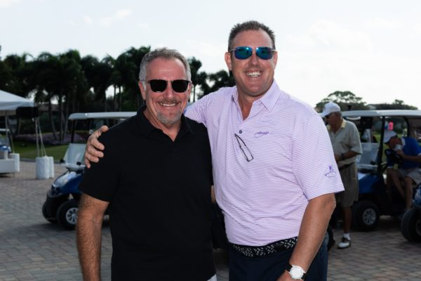 Gary Fein with Palm Beach Auto Group and Darrin Panks Golf Pro PGA Director of Golf Seagate Golf Club